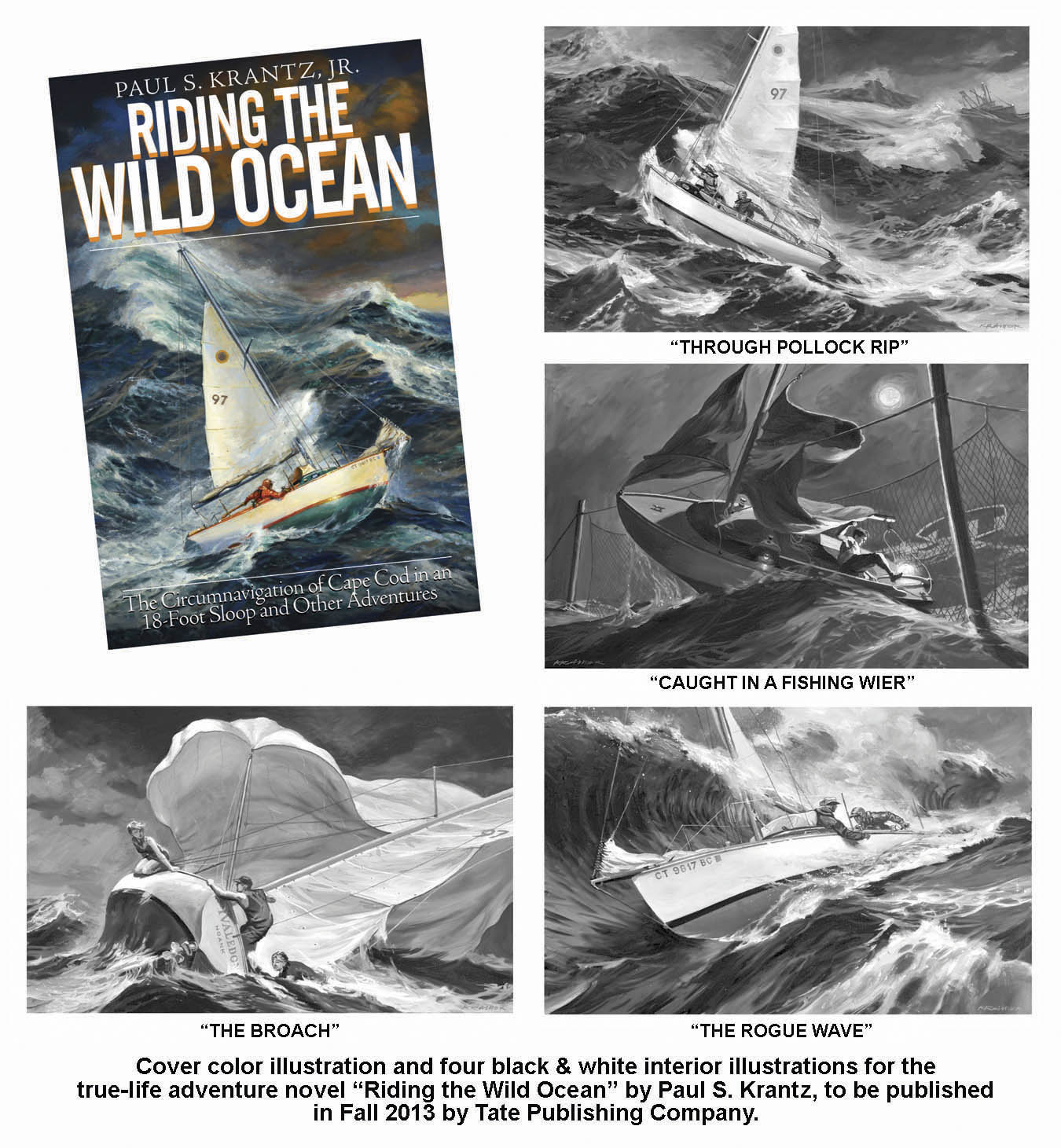 """Riding The Wild Ocean"" Illustrations"