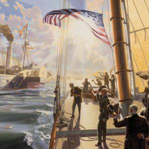 """""""AMERICA SALUTES QUEEN VICTORIA, AUGUST 22, 1851"""""""