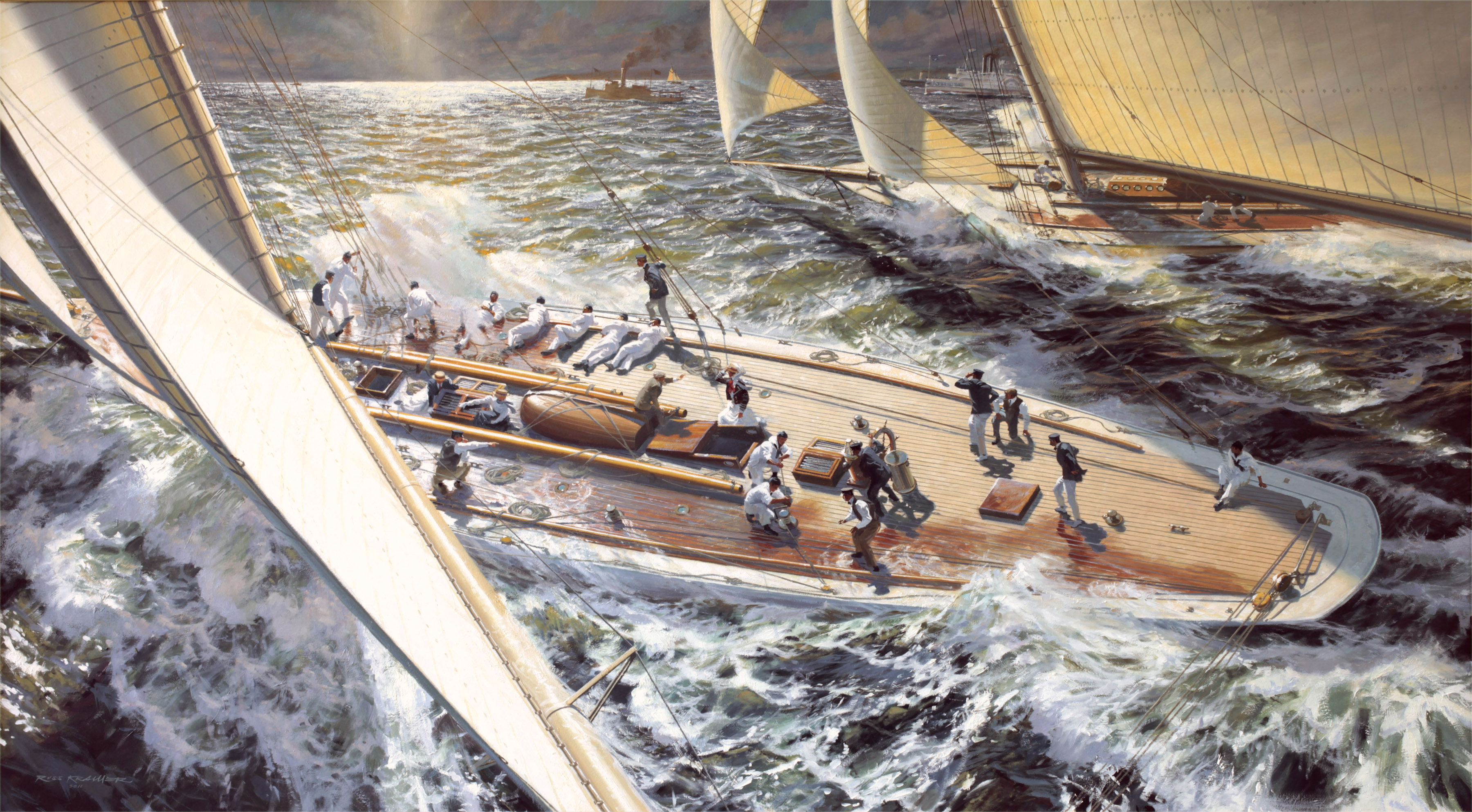"""The Great Race: COLUMBIA vs. SHAMROCK II, 1901"""