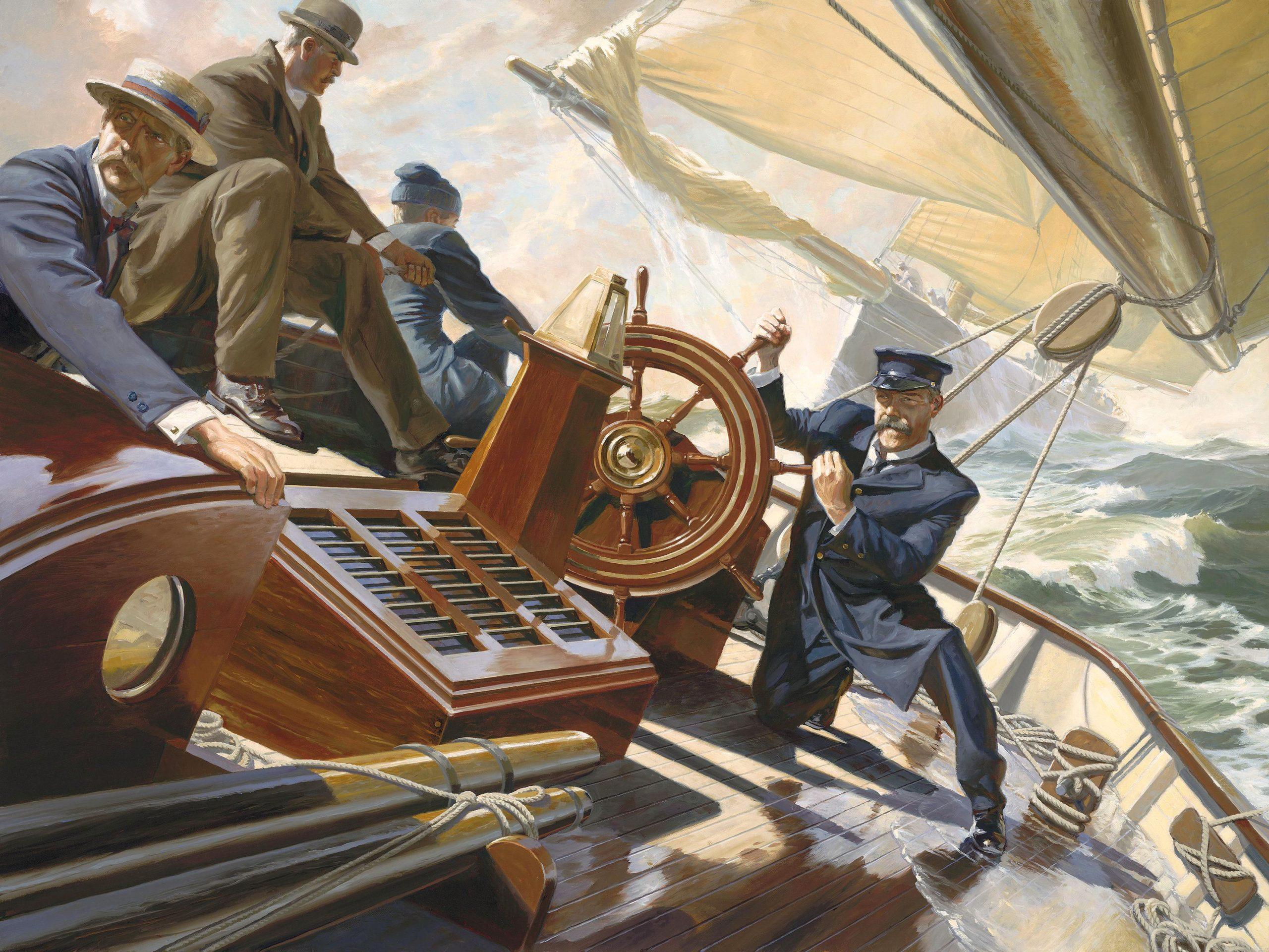 """Onboard Puritan, 1885"""