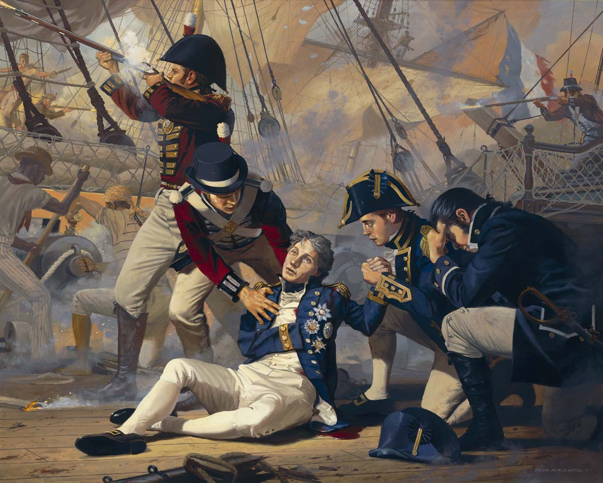 Lord Admiral Nelson Felled at Trafalgar, 1805