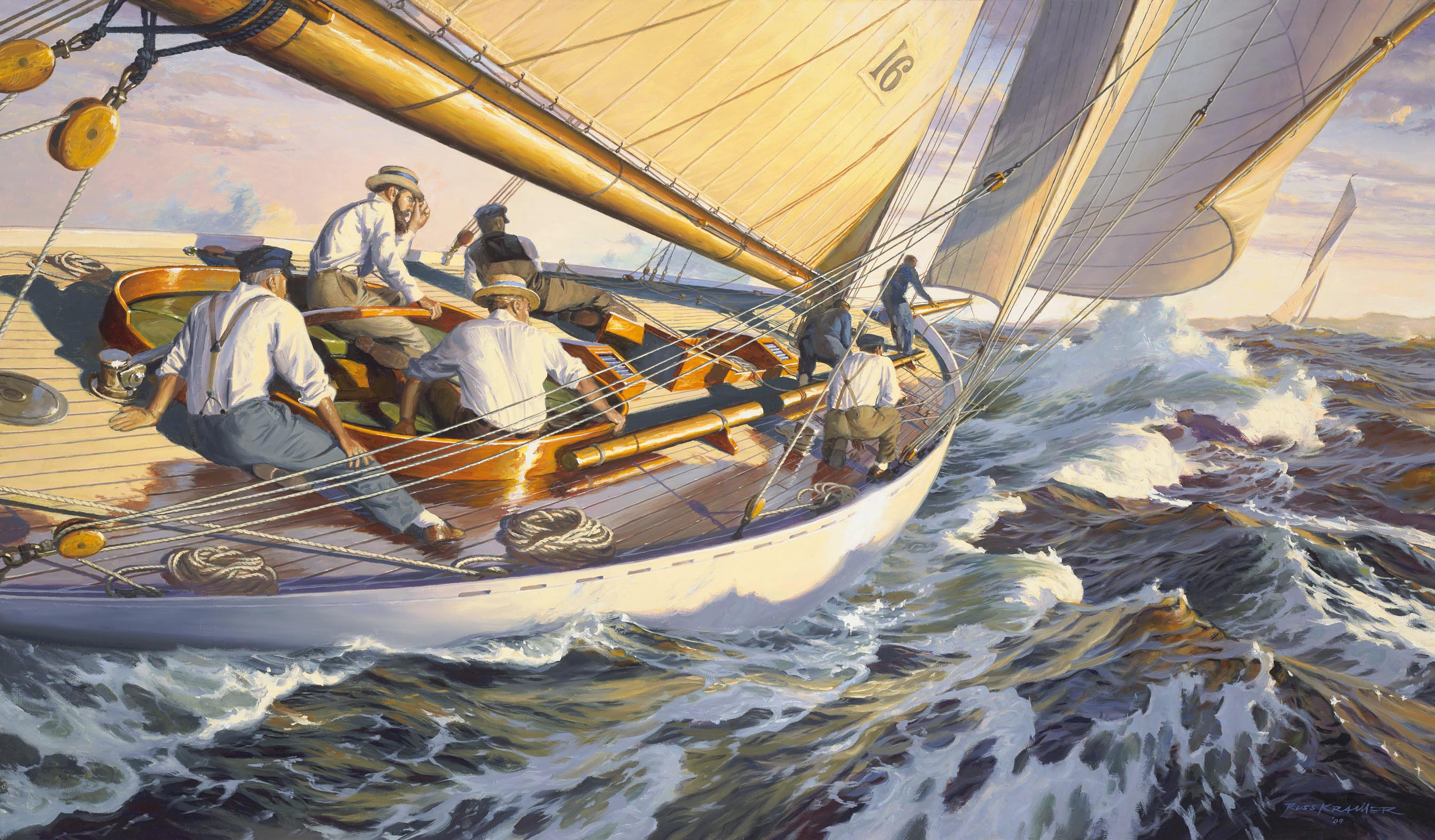 """The Wizard And The Queen: Captain Nat Herreshoff Helms GLORIANA, 1891"""