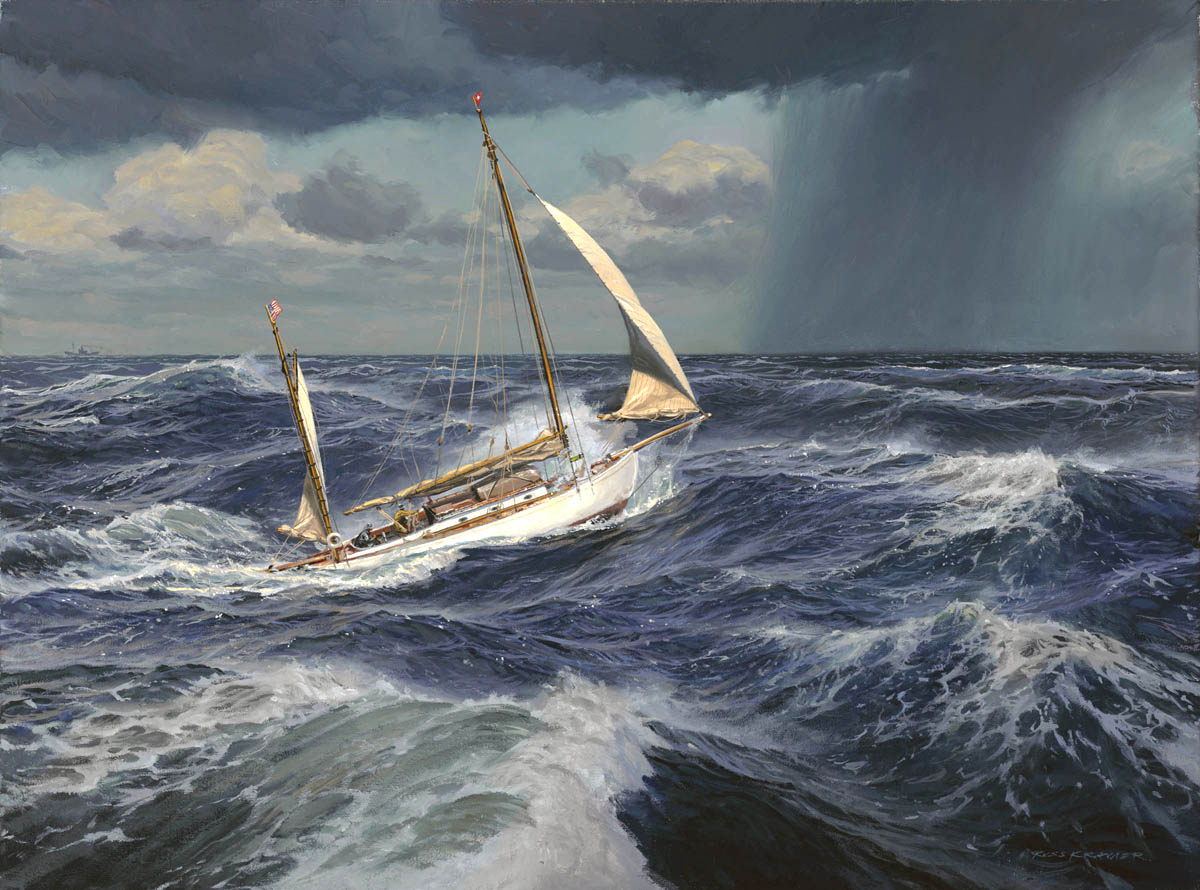 """TAMERLANE in the Gulf Stream, 1906"""