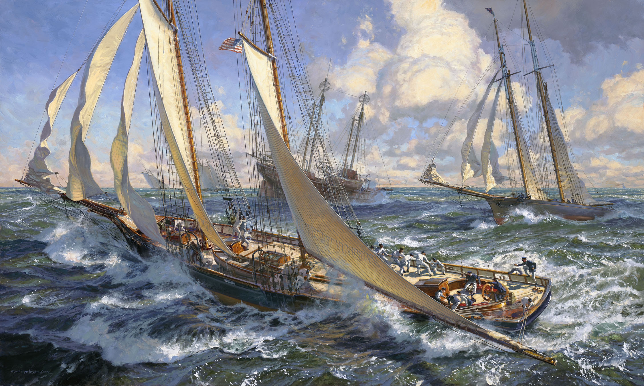 """A Jibe Around The Lightship: DAUNTLESS, 1877"""