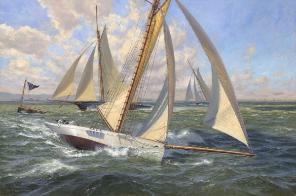 Yacht Bedouin America's Cup 1885 Yacht Puritan Yacht Gracie New York Yacht Club America's Cup Trials